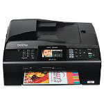 Brother MFCJ615W Color AllInOne Compact Inkjet Printer (Fax/Copier/ Printer/ Scanner) with Wireless Networking