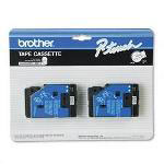 "Brother TC Series Tape Cartridge for P Touch Labelers, Black on White, 1/2"" Width, 2/Pack"