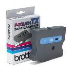 "Brother 1/2"" tape for PT 30/35/8000(XL), PT PC, blue on clear"