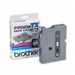 "Brother TX Series Tape Cartridge for PT 8000, PT PC, PT 30/35, Black on White, 3/8"" Wide"