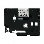 "Brother P Touch® TZ Tape Cartridge, TZ Standard Laminated Tape, Black on Clear, 1/4""W"