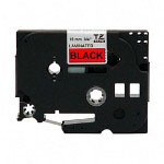 "Brother TZ Tape Cartridge, TZ Standard Laminated Tape, Black on Red, 3/4""W"