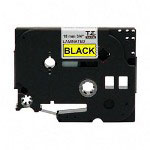 "Brother TZ Tape Cartridge, TZ Standard Laminated Tape, Black on Yellow, 3/4""W"