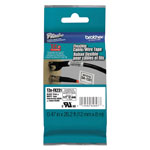 Brother TZ Flexible Tape Cartridge for P-Touch Labelers, 1/2in x 26.2ft, Black on White