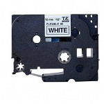 "Brother TZ Tape Cartridge for P Touch® Labelers, Flexible Tape, Black on White, 1/2""W"