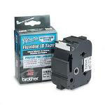 "Brother TZ Tape Cartridge for P Touch® Labelers, Flexible Tape, Black on White, 1 1/2""W"