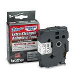 "Brother TZ Extra Strength Adhesive Tapes Laminated, Black on Clear, 1""W"