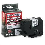 "Brother TZ Extra Strength Adhesive Tapes Laminated, Black on Clear, 1 1/2""W"
