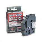 "Brother TZ Extra Strength Adhesive Tapes Laminated, Black on Matte Silver, 3/4""W"