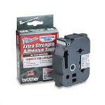 "Brother Model TZS951, Extra Strength Adhesive Tapes Laminated, Black on Matte Silver, 1""W"