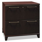 "Bush 30""W 2-Drawer Lateral File Enterprise: Mocha Cherry"