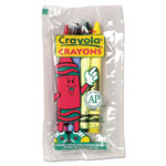 Crayola Classic Color Pack Crayons, Cello Pack, 4 Colors, 4/Pack, 360 Packs/Carton