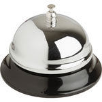 "Business Source Call Bell, 2-3/4"" High, 3-3/8"" Base, Chrome/Black"