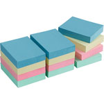 "Business Source Adhesive Notes, Plain, 1-1/2""x2"", 100 Sh/PD, 12PD/PK, Pastel"