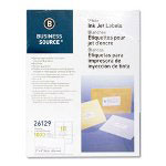 "Business Source Labels, Mailing, Inkjet, 2"" x 4"", White"