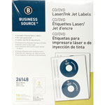 Business Source Label, CD/DVID, Laser/Inkjet, White