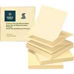 "Business Source Adhesive Note Pads, Pop-up, 3"" x 3"", 100 Sh, 24 Pack, Yellow"