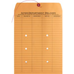 "Business Source Envelopes, Interdepartmental, Two-sided, 10"" x 13"", Kraft"