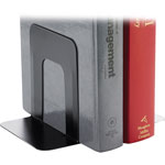 "Business Source Bookends, Standard, Steel, 4-3/4"" x 5-1/4"" x 5"", 12/PR, Black"
