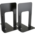 "Business Source Bookend Supports, Jumbo, 6-1/10"" x 9-3/10"" x 8-9/10"", Black"