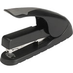 Business Source Full Strip Stapler, Anti-slip, 210 Capacity, Black/Gray