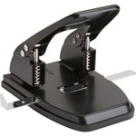 "Business Source 2-Hole Punch, 1/4"" Holes, 30 Sheet Capacity, Black"