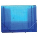 "Beautone Specialties Superline Document Wallets, 12 1/2""Wx1/4""Dx9 3/4""H, Blue"