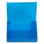 "Beautone Specialties Translucent Document Files, 2"" Capacity, Letter, Blue"
