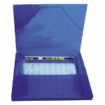 "Beautone Specialties Superline Document File, 1"" Cap, 13""x1""x9 3/4"", Blue"