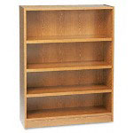 Basyx by Hon Heavy Duty Signature Series Bookcase, 4 Shelf, 36w x 48h, Medium Oak