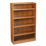 Basyx by Hon Heavy Duty Signature Series Bookcase, 5 Shelf, 36w x 60h, Medium Oak