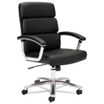 Basyx by Hon Executive Adjustable Height Work Chair, Black Leather