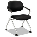 Hon Nesting Chair, Black/Silver Frame