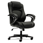 Basyx by Hon VL402 Series Mid-Back Managerial Chair, Black Vinyl