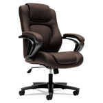 Basyx by Hon VL402 Series Mid-Back Managerial Chair, Brown Vinyl