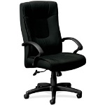"Basyx by Hon High Back Chair, Executive, 32"" x 28"" x 46-1/2"", Black"