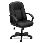 Basyx by Hon VL601 Series Leather High-Back Swivel/Tilt Chair, Metal, 26 x 33 1/2 x 43, Black