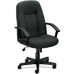 "Basyx by Hon Managerial Mid Back Chair, 26"" x 33 1/2"" x 43"", Gray"