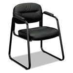 "Basyx by Hon Sled Base Guest Chair, 8-3/5"" x 26"" x 23"", Black"