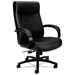 Basyx by Hon VL680 Series Big & Tall Leather Chair, Supports up to 450 lbs., Black