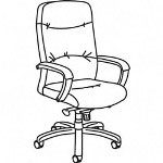 "Basyx by Hon Executive Swivel Chair, High-back, 25""x25""x46-3/4"", BCH"