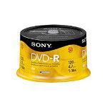 Sony DMR 47RS4 - DVD-R X 50 - 4.7 GB - Storage Media