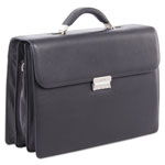 "bugatti Sartoria Medium Briefcase, 16.5"" x 5"" x 12"", Leather, Black"