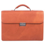 "bugatti Sartoria Medium Briefcase, 16.5"" x 5"" x 12"", Leather, Cognac"
