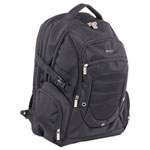 "bugatti Ryan Computer BackPack, 19"" x 4"" x 12"", Nylon, Black"