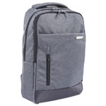 "bugatti Ryan Slim Business BackPack, 18"" x 3.5"" x 13"", Nylon, Charcoal"