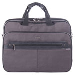 "bugatti Harry Executive Briefcase, 16.5"" x 4.75"" x 12.5"", Nylon/Synthetic Leather, Gray"