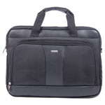 "bugatti Gregory Executive Briefcase, 18"" x 9"" x 18"", Nylon/Synthetic Leather, Black"