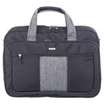 "bugatti Matt Executive Briefcase, 17"" x 5.5"" x 12.75"", Polyester, Black/Gray"