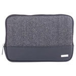 "bugatti Matt Tablet Sleeve, 7.5"" x 0.75"" x 7.5"", Polyester, Black/Gray"